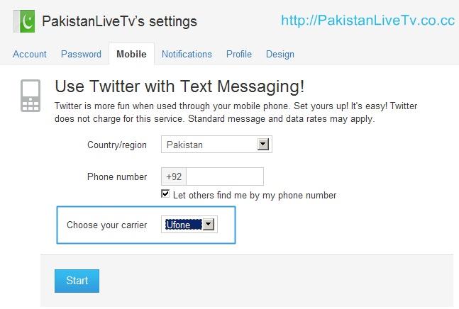 Ufone Twitter Service: tweets via SMS | Pakistan Live News