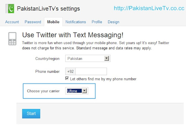 How to register your mobile phone on twitter