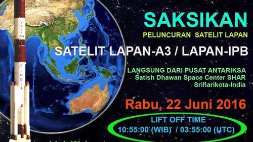 Satelit LAPAN Diluncurkan Hari ini, Tonton Video Strimingnya