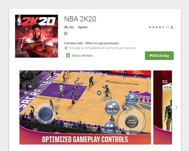 NBA 2K20 is now on mobile devices in the Philippines