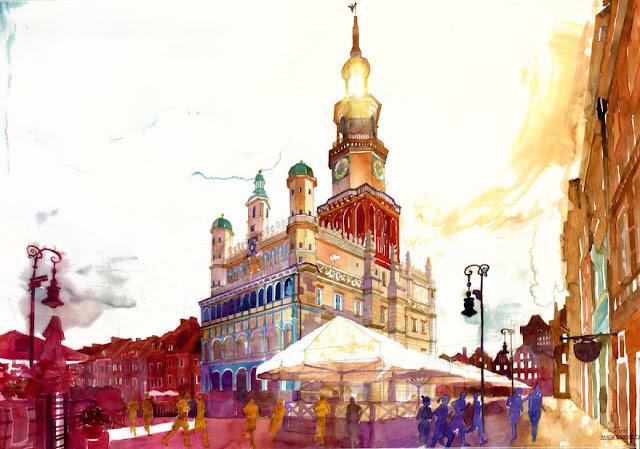 Maja Wronska architectural watercolor painting