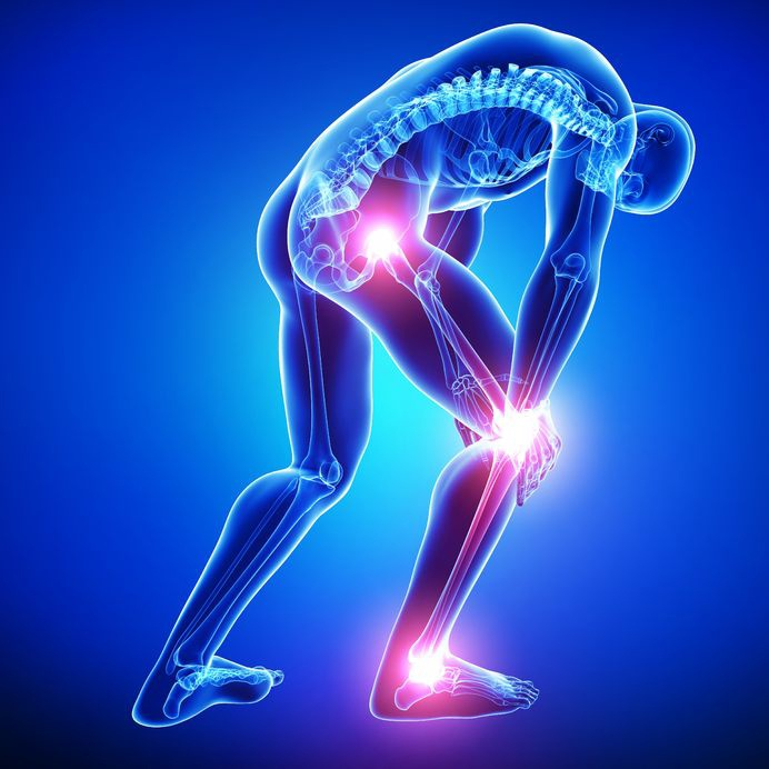 Sciatica - shooting pain down the back of one or both of your leg