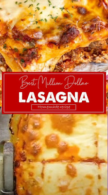 Best Million Dollar Lasagna #pastarecipe