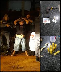 Em Anapurus: Motorista fura barreira policial e é preso com arma de grosso calibre, veja.