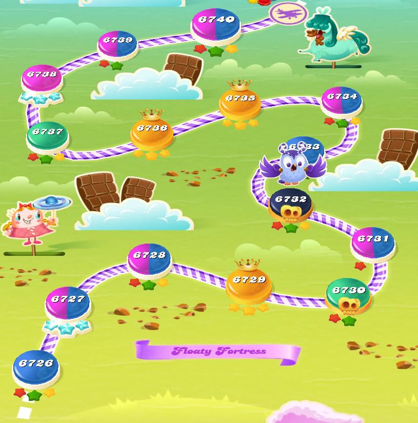 Candy Crush Saga level 6726-6740