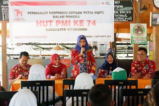 PMI Santuni 100 Anak Yatim Piatu di HUT ke-74