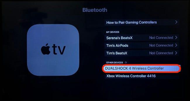 إقران DualShock 4 مع Apple TV