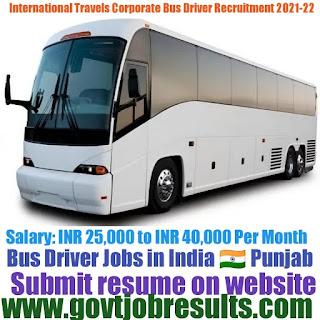 International Travel Corporates Bus Driver Recruitment 2021-22