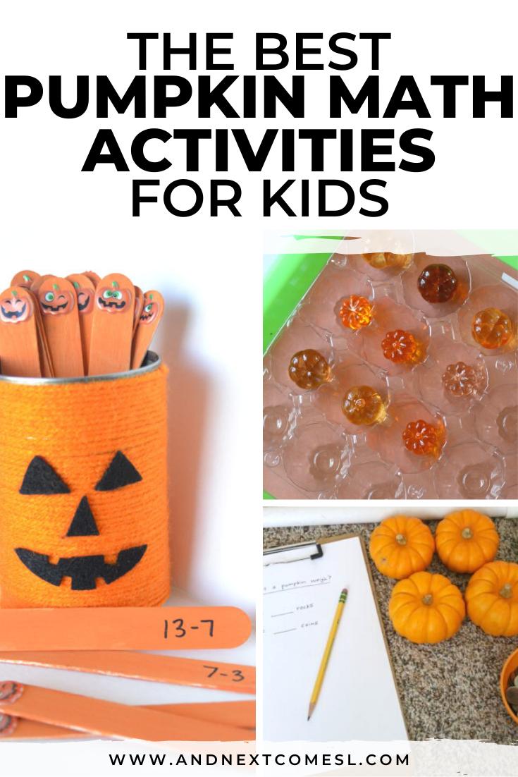 The best pumpkin math activities for kids