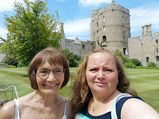 Mother and daughter at Windsor Castle