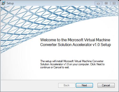 Microsoft Virtual Machine Converter (MVMC) Release Candidate