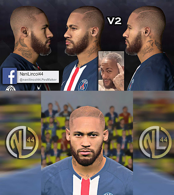 "PES 2017 Neymar Jr ""Bald"" (Latest Hairstyle) by Nanilincol44"