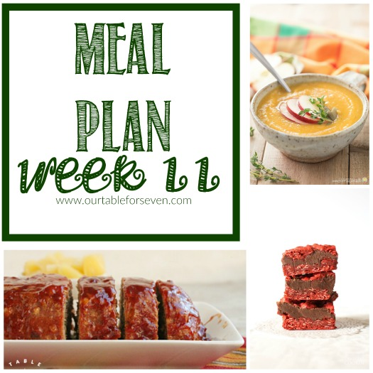 Meal Plan: Week 11