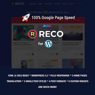 Reco – Minimal WordPress Theme for Freebies