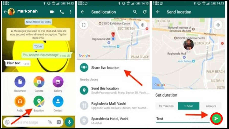 cara menyimpan share location