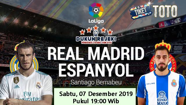 Prediksi Real Madrid vs Espanyol 07 Desember 2019