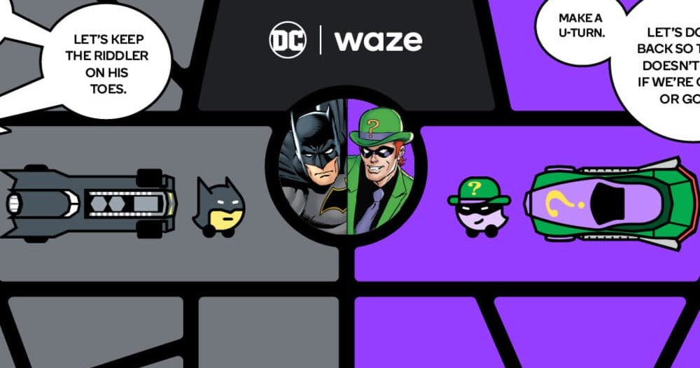 Waze adiciona voz do Batman e do Charada ao comando de voz