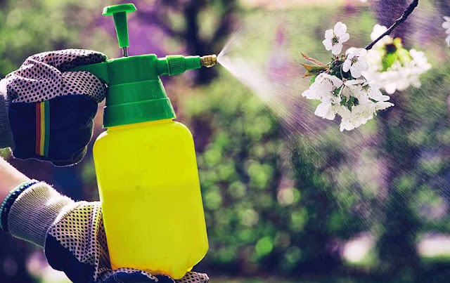 how to apply chemicals safely in garden