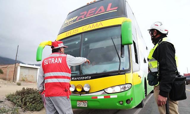Transporte interprovincial queda suspendido por 15 días