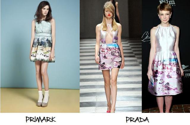 Clones 2011 vestido Prada Primark