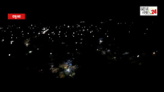 नगर पालिका ने नदौरा से वाशरी मुख्य मार्ग एलईडी लाइट से किया रोशन