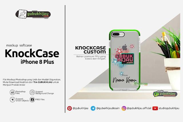 Mockup Knock Case Custom iPhone 8 Plus