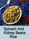 Spinach & Kidney Beans Rice