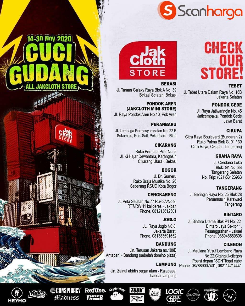 Promo Jakcloth: Cuci Gudang Diskon hingga 80% All Store* November 2020