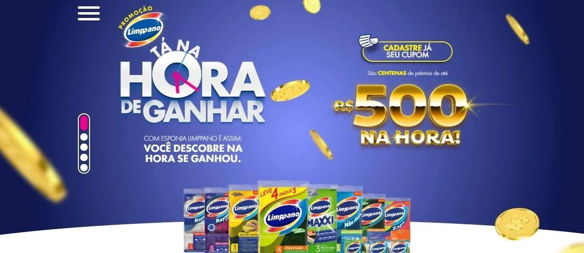 Promoção Limppano 2020 Tá Na Hora de Ganhar 500 Reais Na Hora Cadastrar Esponja
