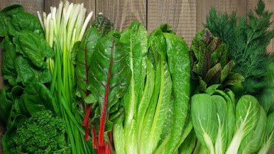 Verduras de hojas verdes