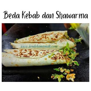 Beda kebab dan shawarma