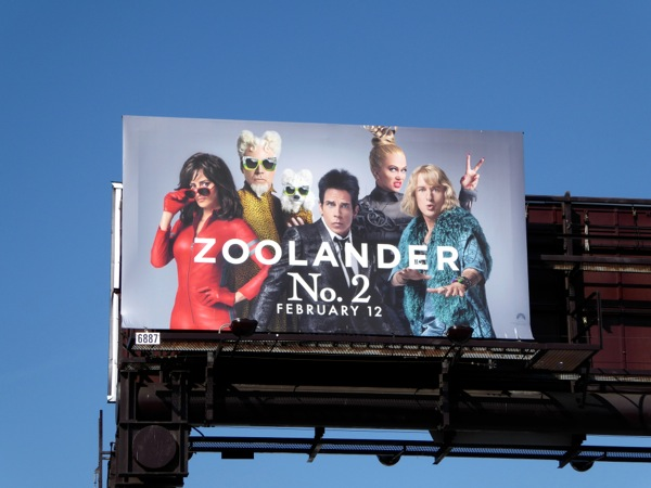 Zoolander No 2 film billboard