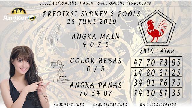 PREDIKSI SYDNEY 2 POOLS 25 JUNI 2019
