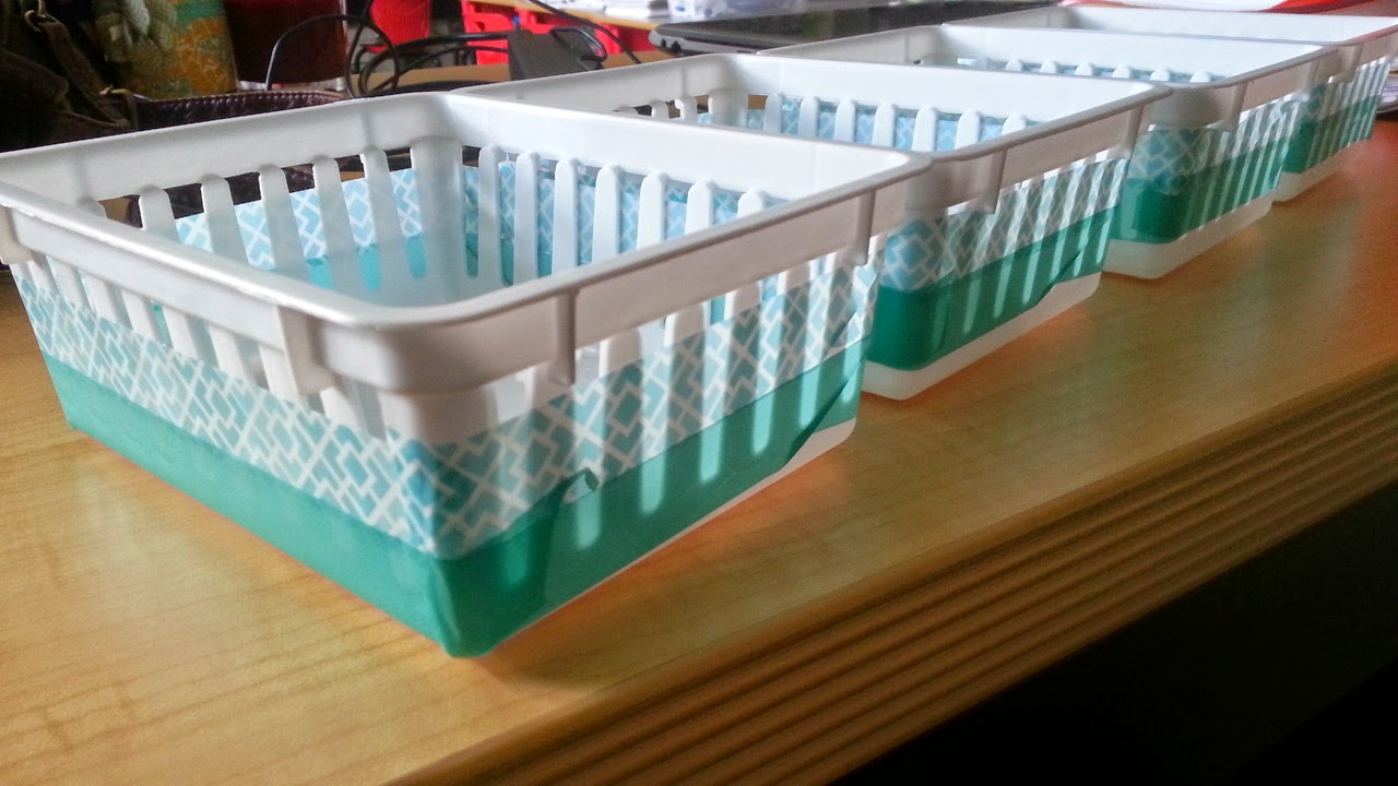 Washi Tape to fix up teaching baskets
