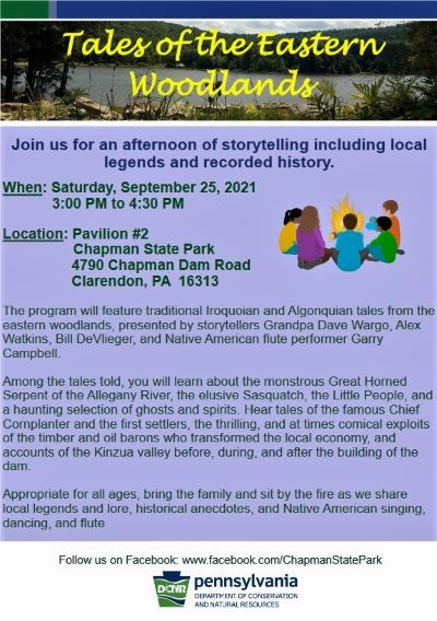 9-25 Tales of Eastern Woodlands, Chapman State Park