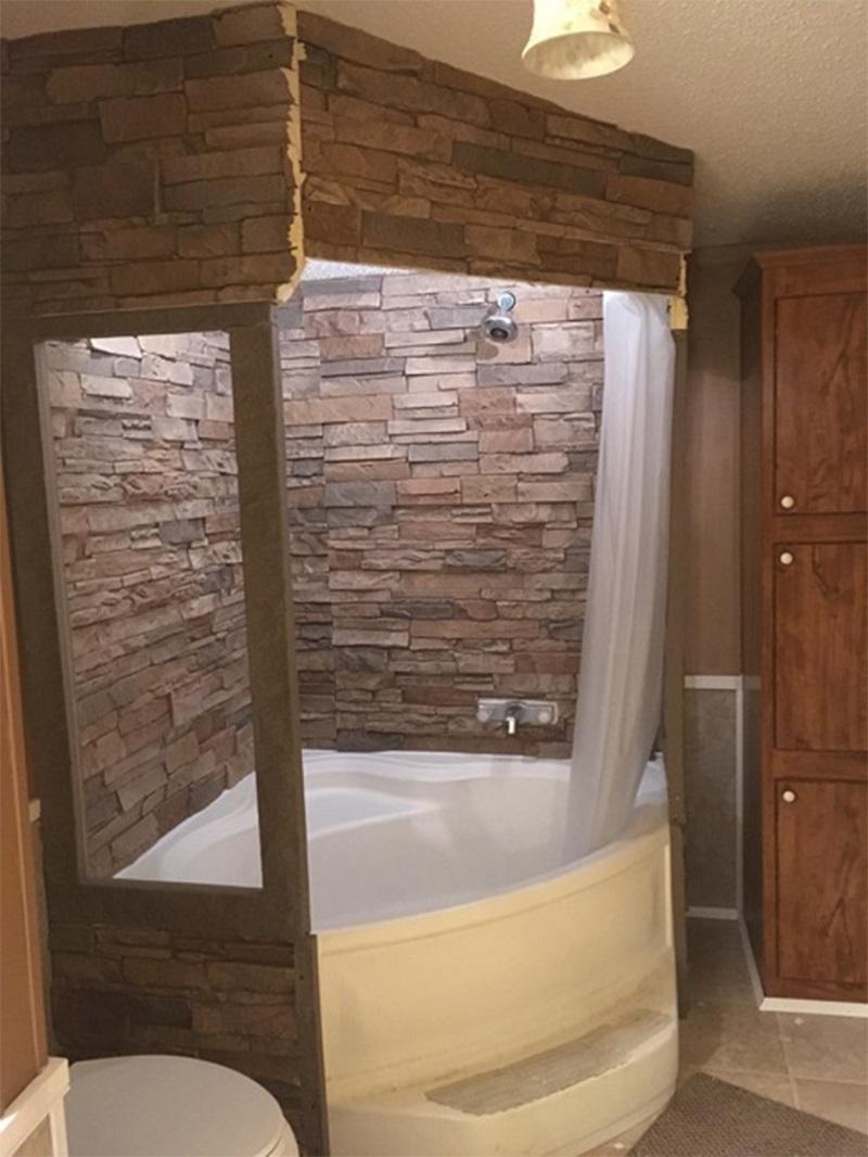 Spa Retreat with Waterproof Faux Stone