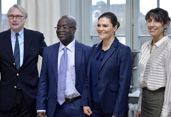 The Global Ocean and the Future of Humanity. Crown Princess Victoria carried Valentino Shoulder Bag. suit