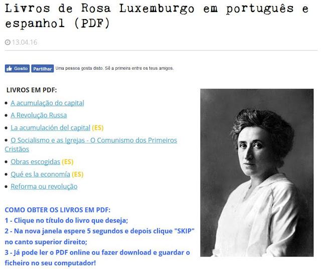 Sarau Para Todos Livros De Rosa Luxemburgo Em Portugues E Espanhol Pdf