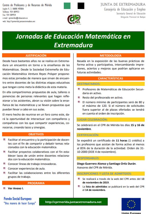 Sociedad Extremeña de Educación Matemática