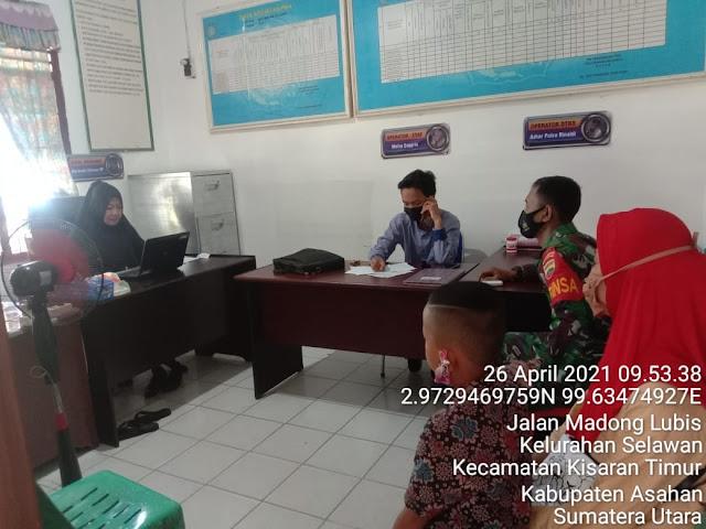 Tingkatkan Kerjasama Dengan Perangkat Desa, Personel Jajaran Kodim 0208/Asahan Laksanakan Komunikasi Sosial