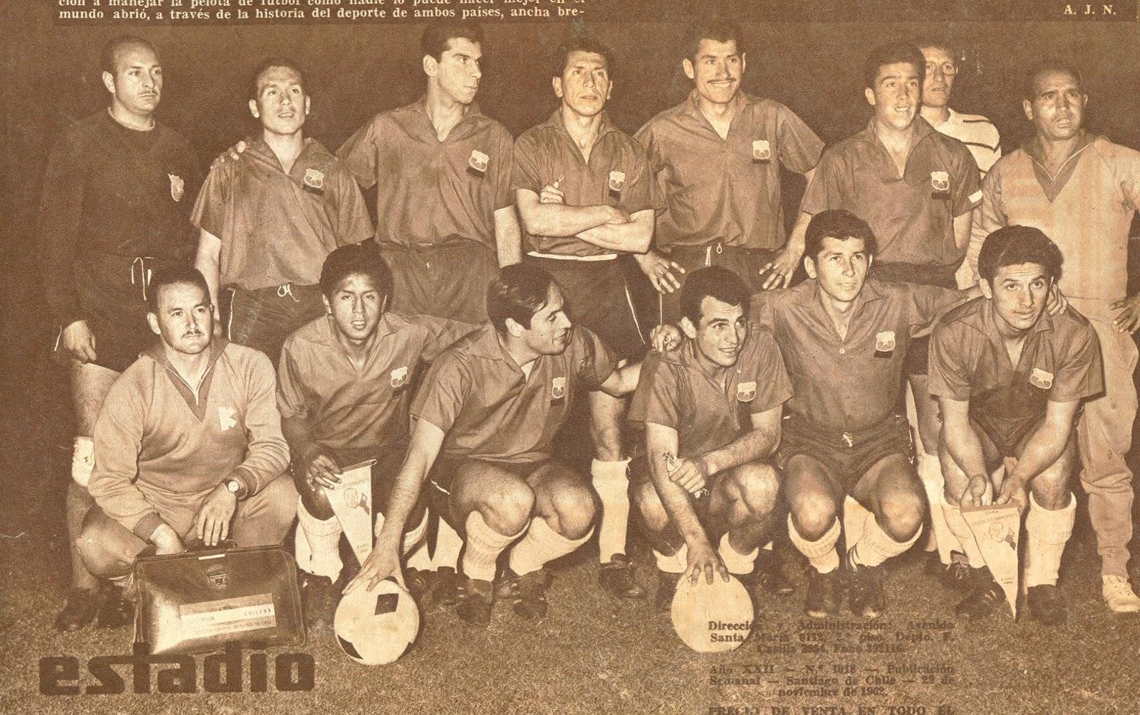 Formación de Chile ante Argentina, Copa Carlos Dittborn 1962, partido de vuelta
