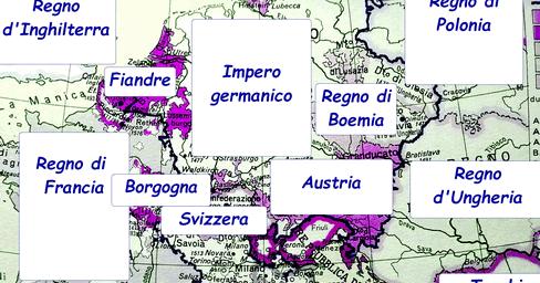 Cartina 1400.Storia Medioevo Germania E Austria Imparare Facile