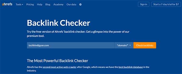 Ahrefs Backlink Checker (Free)