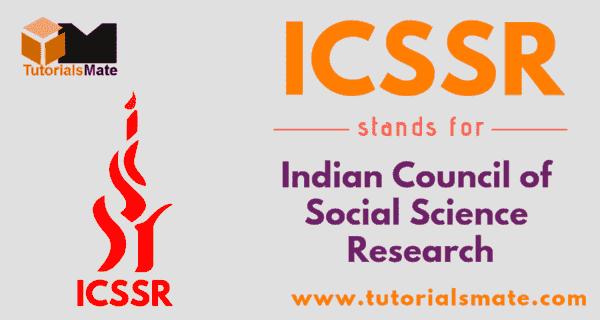 ICSSR Full Form