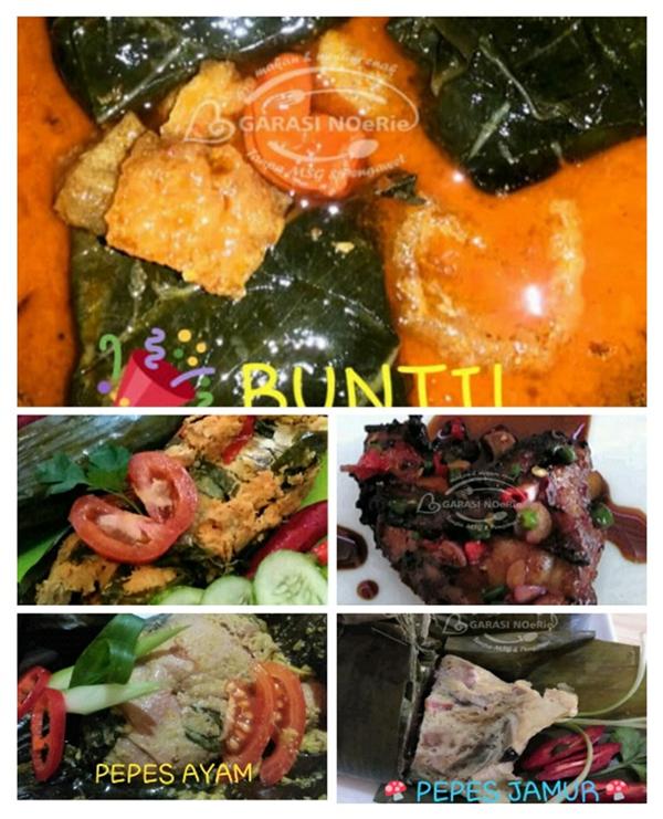 Buntil, Pepes Ayam, Pepes Jamur di GARASI NoeRie