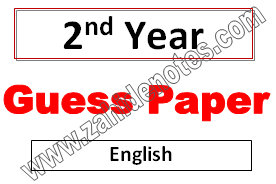 2nd year guess paper English lahore board