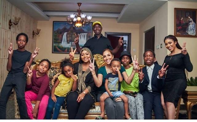 Regina Daniels husband Prince Ned Nwoko shares full family photos