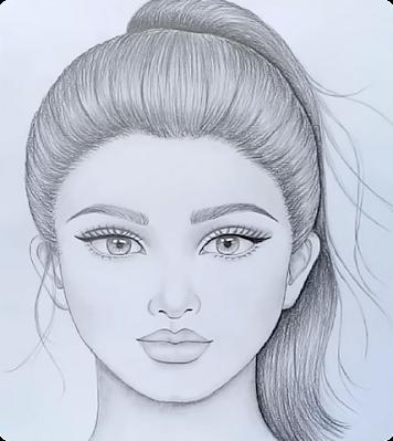 صورة رسم فتاه جميلة