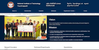 Post Doctoral Fellowships @ NIT Tiruchirappalli [Rs. 55K + Grants + Accommodation]: Apply by Sep 6 - Bivash Vlogs