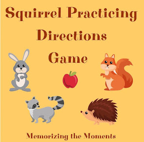 Free printable fall animal game for practicing giving and following directions. Also for beginning coding.